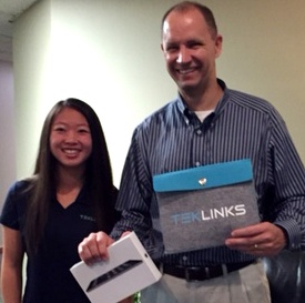 Kevin of Vulcan Value Partners with iPad