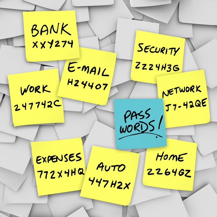 Passwords Written on Sticky Notes