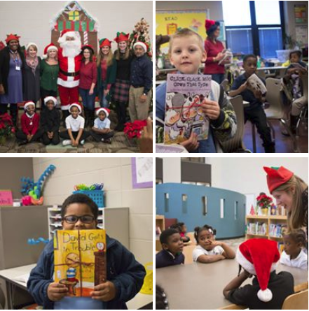 Santa Shares the Gift of Reading with Birmingham Elementary Students